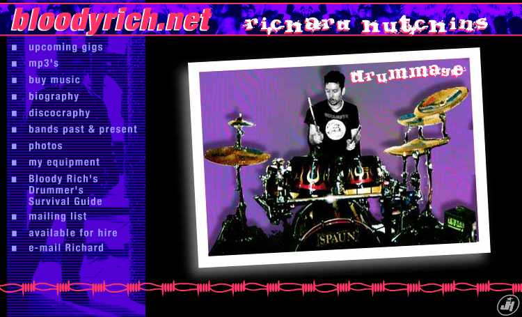 bloodyrich.net - Richard hutchins - drummage